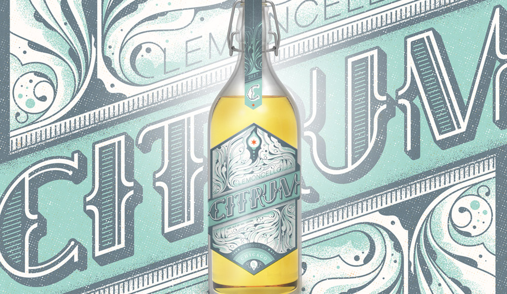 Citrum Lemoncello Label Design